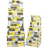 Markenlos Aufbewahrungsboxen/Schachteln Design Blumen im 10er Set mit Deckel