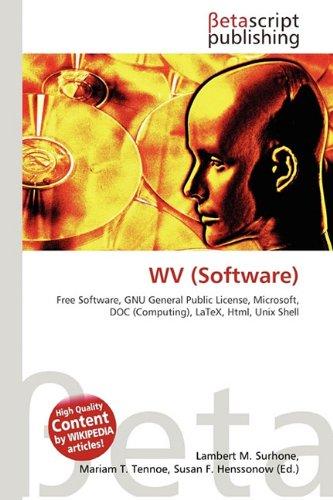 WV (Software) por Lambert M Surhone