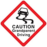Caution Grandparent Driving Car Sign, Baby on Board sign made of thick EVA foam