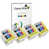 16 ( 4 Ensembles ) Colour Direct Compatible Cartouches d'encre T0715 - Remplacement Pour EPSON STYLUS S20, SX100, SX105, SX110, SX115, SX200, SX205, SX210, SX215, SX218, SX400, SX405, SX410, SX415, SX510W, SX515W, SX600FW, SX610FW, BX300F, BX3450, CX4300, S21, D120, D5050, D78, D92, DX400, DX4000, DX4050, DX4400, DX4450, DX5000, DX5050, DX6000, DX6050, DX7450, DX8450, DX7000F, DX7400, DX8400, DX8450, DX9400, DX9400F, BX310FN Imprimantes