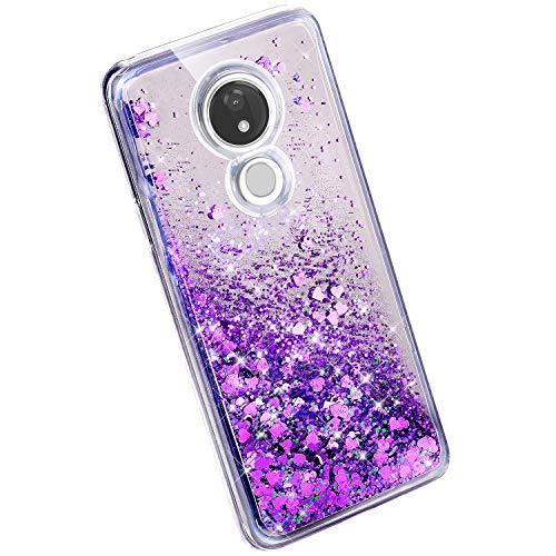 Ysimee Compatible avec Motorola Moto G7 Power Coque Liquide Paillette  Strass Bling Glitter de Housse Silicone TPU Crystal Clair 3D Créative Case  avec