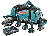 Makita DLX6068PT 18 V Li-ion LXT Combo Kit Complete with 3 x 5.0 Ah Li-ion Batteries and Charger in a Heavy Duty Carry Bag – (6-Piece)
