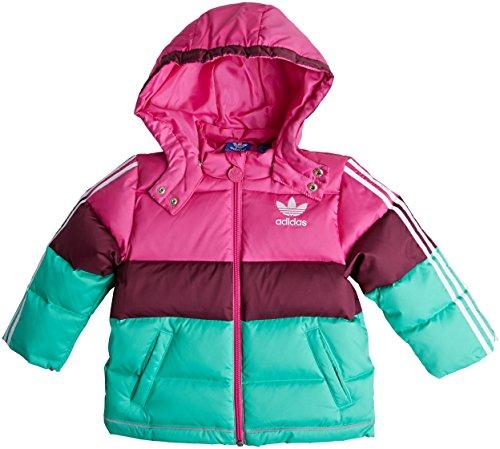 Adidas Originals Bambino Bambini Piumino, unisex, Pink, 3-4 anni