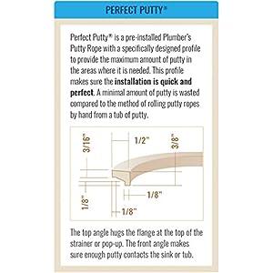 Perfect Putty 59-3060 Bar Sink Basket Strainer with Putty