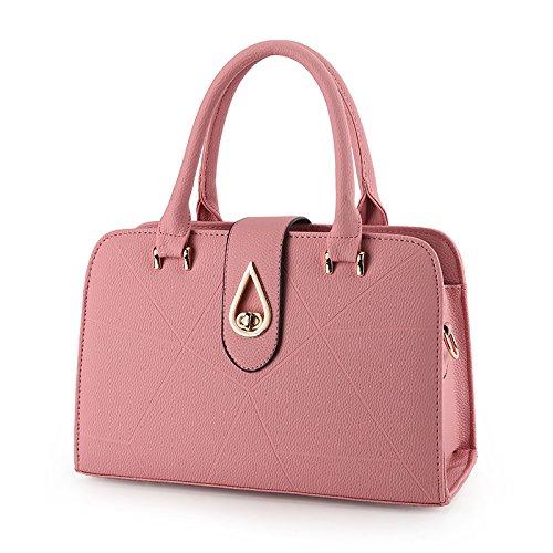 XWAN La mujer Nueva Bolsa bolso con aire de moda hombro colgada,Hot Pink