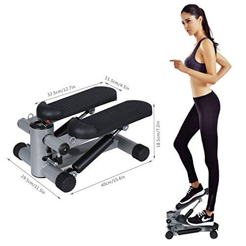 busyall–Stepper máquina de ejercicio con barra de mango bandas de resistencia