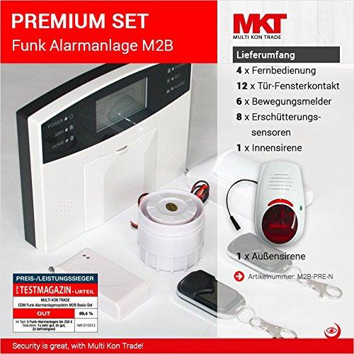 PREMIUM SET * GSM Funk Alarmanlage mit LCD Display * Alarm/SMS/Anruf * Keypad