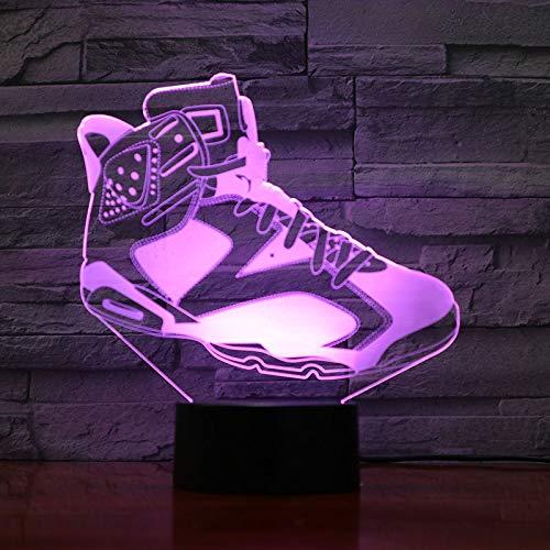 SSYYJJ 3D Illusion Nachtlampe für Kinder Dekoration Geburtstag Geschenk Tischlampen Basketball Schuhe mit Fernbedienung
