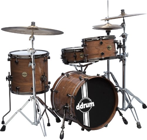 Ddrum pwse 418 NW Paladin 4-teiliges Drum Set Sound, natur Walnuss