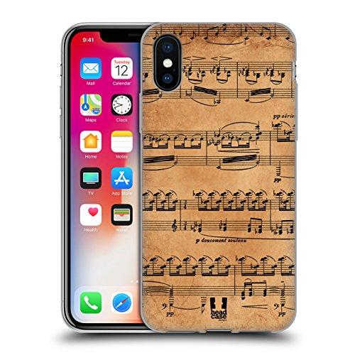 Head Case Designs Mozart Partitions Musicales Étui Coque en Gel molle pour Apple iPhone 6 / 6s Debussy
