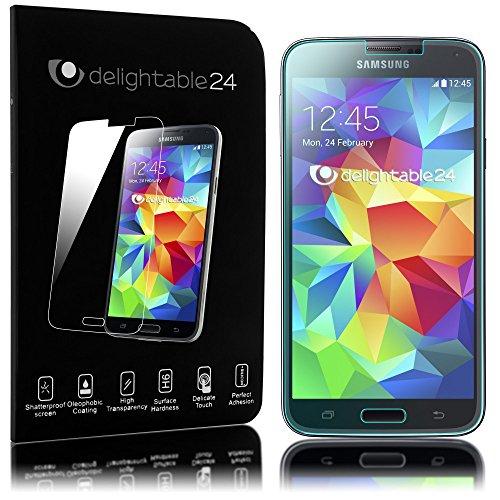 delightable24 Pellicola Protettiva Vetro Temprato Glass Screen Protector Smartphone SAMSUNG GALAXY S5 MINI - Transparente