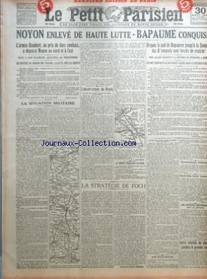 PETIT PARISIEN (LE) [No 15179] du 30/08/1918 - NOY...