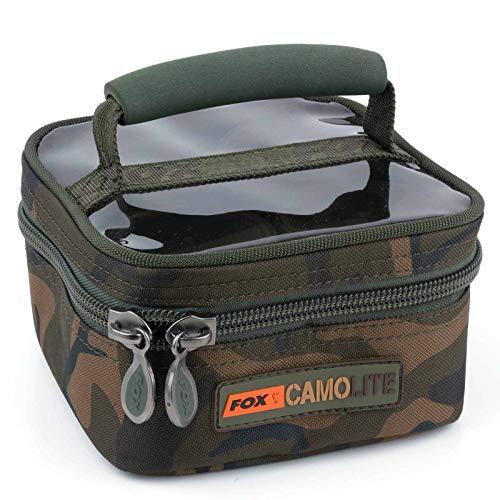 Fox Camolite Glug 8 Pot case 23x16x10cm - Ködertasche für Angelköder, Tackletasche für Boilies & Pellets, Angeltasche für Köder -