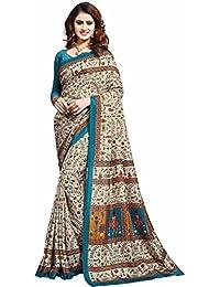 Miraan Printed Art Silk Women's Saree With Blouse Piece(32)