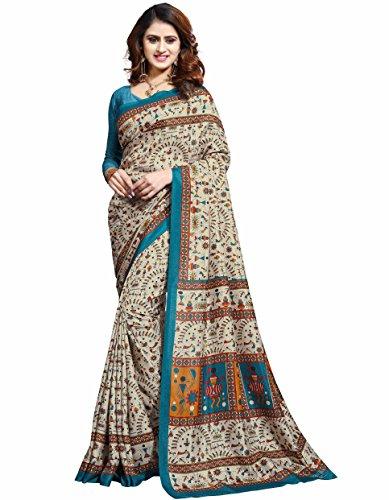 Miraan Printed Art Silk Saree for women with blouse (32)
