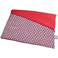 Tablet Hülle Notebooktasche Retro Flower rot mit Haupt- und Außenfach, Maßanfertigung für 8/9/10/11/12/13/14 oder 15 Zoll Geräte