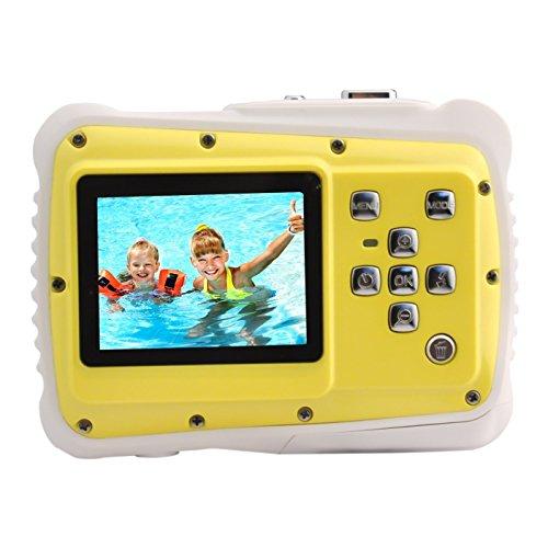 Kinder-Kamera,eTTgear PP-J52 Unterwasser-Action-Kamera Wasserdicht Staubdicht Kinder Camcorder 5M Pixel-Gelb