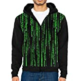 NA Männer Casual Jacke mit durchgehendem Reißverschluss Hoodie Sweatshirt Green Matrix Sportswear Jacken mit Taschen