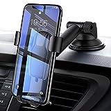 Handyhalterung Auto, Schwerkraft Linkage Autotelefonhalterung Autohalterung Auto Handy Halter KFZ Halterung Autotelefonhalter handyhalter für Armaturenbrett /Windscheibe 360 Grad drehbar Universal smartphone halterung auto mit Gel-Auflage und Teleskoparmkompatibel für iPhone 8Plus / 7Plus / 6s / 6P / 5S, Samsungs-Galaxie S5 / S6 / S7 / S8 by DIVI (Armaturenbrett-Schwarz)