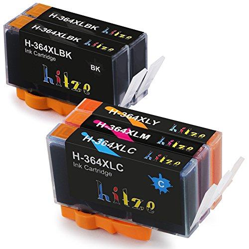 Hitze 364L 364XL Druckerpatronen Kompatibel mit HP OfficeJet 4620 4622 Photosmart 5520 5524 6520 5510 7520 6510 5515 B8550 C5380 C6380 C5380 C5390 Deskjet 3070A 3520 (Schwarz,1 Cyan,1 Magenta,1 Gelb)