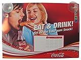 Unbekannt Coca Cola - Eat & Drink - altes Öffnungszeitenschild mit 2 Sauger - 29,5 x 21 cm