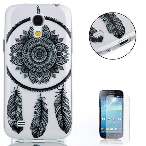 Samsung Galaxy S4 Mini i9190 gel di Silicone Caso (con Gratuito Proteggi schermo) CaseHome Retro (Tatuaggio Di Gomma)