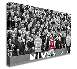 Thierry Henry Football Arsenal v Spurs Canvas Art Cheap Print 20x30 inches