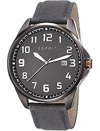 Esprit Clayton Men's Quartz Watch with Grey Dial Analogue Display and Grey Strap ES107991002