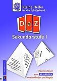Kleine Helfer für die Schülerhand - DaZ Sekundarstufe I: Bastelvorlagen zum Be-greifen von Methoden und Regeln