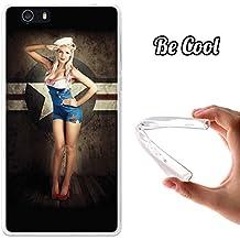 Becool® Fun - Funda Gel Flexible para Elephone M2, Carcasa TPU fabricada con la mejor Silicona, protege y se adapta a la perfección a tu Smartphone y con nuestro exclusivo diseño. Pin up marine
