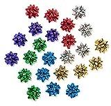 Dekorative Metallisches Geschenk Einwickel-Bögen: Sechs verschiedene Farben für Alle Anlässe - 24 Mittel - Bögen in