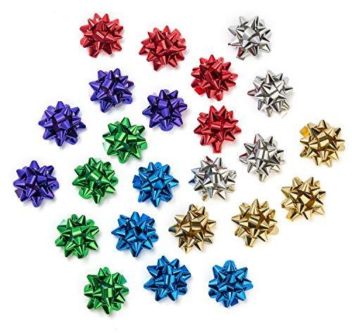 Dekorative Metallisches Geschenk Einwickel-Bögen: Sechs verschiedene Farben für Alle Anlässe - 24 Mittel - Bögen in Aufbewahrungsbox - 2 in Jeder Farbe - für Geschenkverpackung