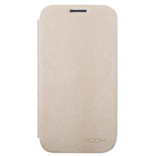 Rock SSI9500-SFC-28177 Big City Side Flip Case for Samsung Galaxy S4 I9500 (Cream)
