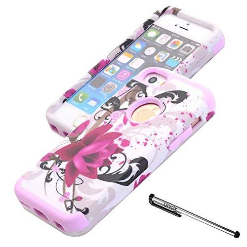 urvoix iPhone SE/iPhone 5S 5Fall, Premium Schutzhülle Lotus Flower Cover, Dual Layer + stoßdämpfendem Hard Bumper Fällen für iphonese iPhone 5s-Pink