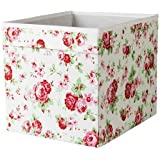 10x inserto de IKEA Dröna–Caja de almacenaje 33x 38x 33cm (W x D x H) con diseño de rosas