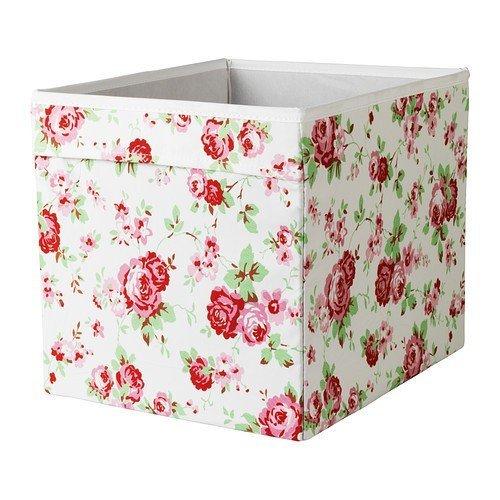 """9X 'IKEA Regalfach """"DRÖNA Aufbewahrungsbox Regaleinsatz 33x 38x 33cm (B x T x H) mit Rosen Design"""
