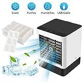 Refroidisseur D'air, mini Climatiseur Mobile Portable avec Bac à Glaçons et Filtre...