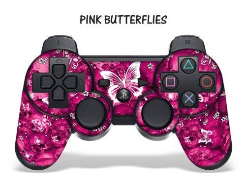 Schutzfolie für Playstation 3 Controller- Pink Butterfly