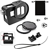 ASOCEA Aluminum Alloy Thick Solid New Version Cage Protective Frame Housing Case Mount With 52mm UV Filter For Gopro Hero 6/Hero 5