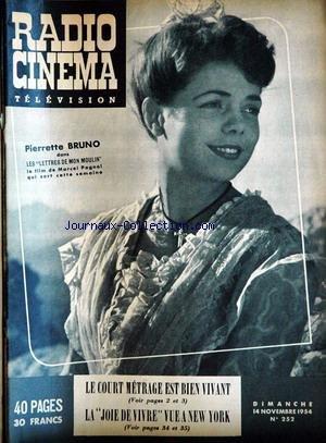 RADIO CINEMA TELEVISION [No 252] du 14/11/1954 par COLLECTIF