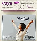 Femcap 26mm cappuccio cervicale & Caya Natural Contraceptive Gel 60g COMBIPACK