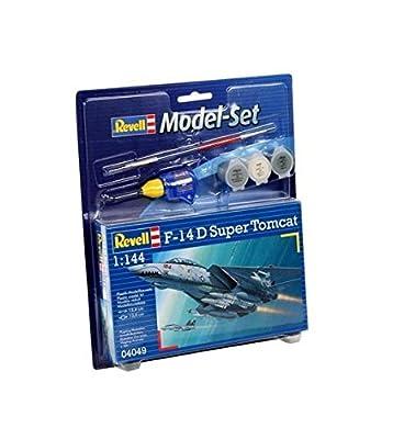 Revell Modellbausatz Flugzeug 1:144 - F-14D Super Tomcat im Maßstab 1:144, Level 3, originalgetreue Nachbildung mit vielen Details, , Model Set mit Basiszubehör, 64049 von Revell