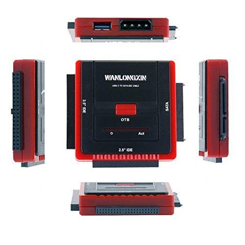 wanlongxin wlx-888u3is USB 3.0zu SATA/IDE Konverter Adapter Kabel Set mit Power Adapter für 2,5/8,9cm SATA oder IDE-Laufwerk