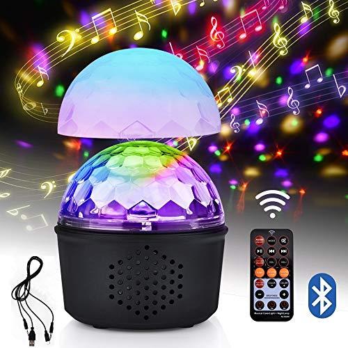 cokugel Led Party Lampe 9 Farben 15W Bühnenlicht mit Drahtlos Bluetooth-Lautsprecher und Fernbedienung, USB LED Nachtlicht, Partylicht für Kinder, Weihnachten, Partei (Upgrade) ()