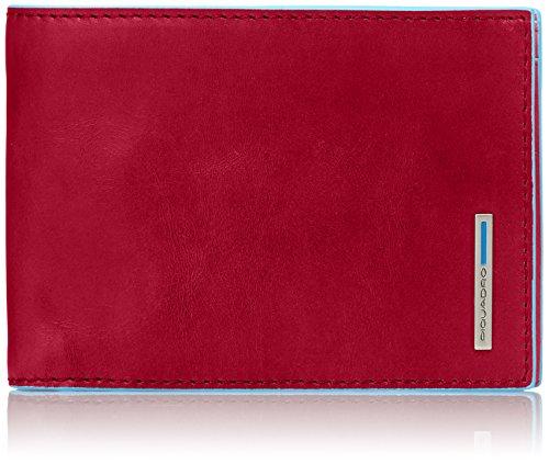 Piquadro PU257B2 Portafoglio, Collezione Blu Square, Rosso