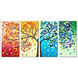 #1: Rrimin Colorful Tree Embroidery DIY Counted Cross Stitch Kit Handmade Home Decor 103*57cm