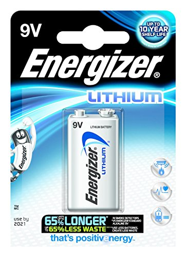 Energizer Lithium 9v (8St. Lithium Energizer Ultimate Akku 9V 6LR61ideal für Rauchmelder)