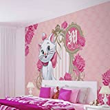 Disney Aristocats Marie - Wallsticker Warehouse - Fototapete - Tapete - Fotomural - Mural Wandbild - (802WM) - XL - 208cm x 146cm - VLIES (EasyInstall) - 2 Pieces