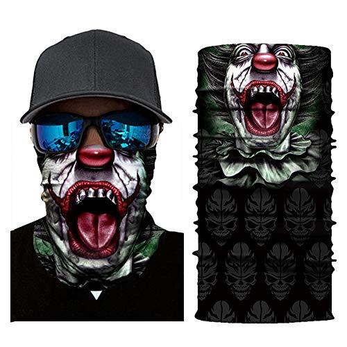 Magischer Schal, Schlauch Maske, Kopftuch Maske, Nahtlose Kopftuch Digital Printing, Magisch 16 Ways to Wear, Clown Outdoor Sport (4 Stück) (Color : C) -
