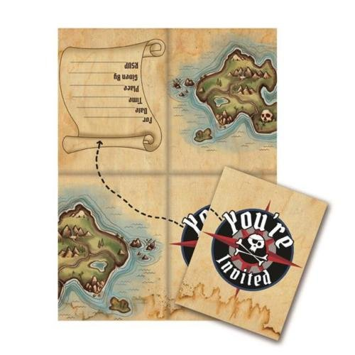 Creative Party Piraten Karte Party Einladungen & Umschläge